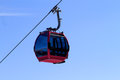 Cable car with clear blue sky Royalty Free Stock Photography