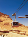 Cable car in fortress masada israel sunny day Stock Photos