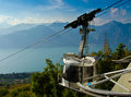 Cable car a from garda lake italy photo taken on september Stock Photos
