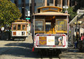Cable car at hyde and beach terminal in san francisco march on march the is world last Royalty Free Stock Image