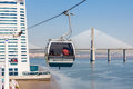 Cable car in lisbon august at the park of the nations on august portugal at the park of the nations where the expo world s Stock Image