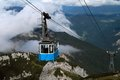 Cable car in the mountain Royalty Free Stock Images