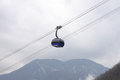 Cable car in mountains near sochi Royalty Free Stock Photo