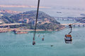 Cable Car at Ngong Ping Royalty Free Stock Photo