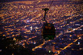 Cable car night view, Overlooking of salta city, argentina Royalty Free Stock Photo