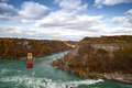Cable car over niagara river whirlpool canada ontario Royalty Free Stock Images