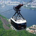 Cable car over rio de janeiro in brazil Royalty Free Stock Image