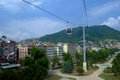 Cable car and pole in the city of Ordu Stock Photo