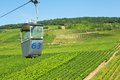 Cable car in rudesheim am rhein germany Royalty Free Stock Images