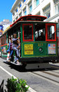 Cable car running on street classic san francisco california usa Royalty Free Stock Photo