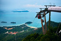 Cable car station at langkawi island malaysia Stock Images
