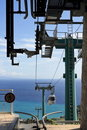 Cable Car in Taormina Stock Photo