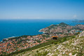 Cable car in Unesco Heritage Dubrovnik Royalty Free Stock Images