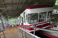 Cable car which travels up the mountain to koyasan japan koya san Stock Photography