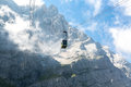 Cable car at Zugspitze Mountain Germany Royalty Free Stock Photo