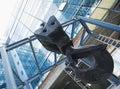Cable crane hoist hook Royalty Free Stock Photo