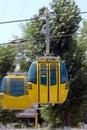 Cable gondola cars. Stock Image