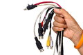 Cable in hand Royalty Free Stock Photo