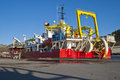 Cable-laying vessel Royalty Free Stock Image
