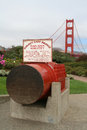 Cable monument at Golden Gate Bridge Royalty Free Stock Photo