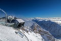 Cable railway station at the peak of Zugspitze, Germany Royalty Free Stock Photo