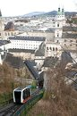Cable Railway to the Hohensalzburg Fortress Royalty Free Stock Image