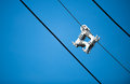 Cable Spacer on blue sky Royalty Free Stock Photo