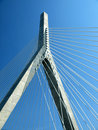 Cable Stay Bridge Wishbone Stock Images