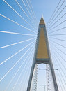 Cable stayed bridge in bangkok Royalty Free Stock Photo
