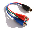 Cable for video cards - s-video rca Royalty Free Stock Images