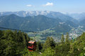Cable way in austria near the city of bad ischl the austrian alps Royalty Free Stock Photography