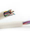 Cable on white background Stock Photo