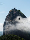 Cablecar to sugarloaf mountain rio de janeiro brazil cable car summit of in in Royalty Free Stock Images