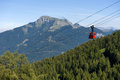 Cableway in alps Royalty Free Stock Image