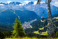 Cableway in Madonna di Campiglio, a town in Trentino , Italy Royalty Free Stock Photo