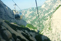 Cableway the of north peak in huashan mountain in shaanxi china Royalty Free Stock Images