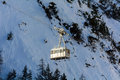 Cableway for skiers in the high valley of aosta Royalty Free Stock Image