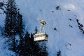 Cableway for skiers in the high valley of aosta Stock Photo