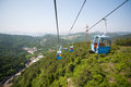 Cableway in the suburbs of dalian east china Stock Photography