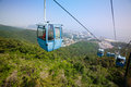 Cableway in the suburbs of dalian east china Royalty Free Stock Photo