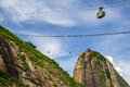 Cableway on Sugarloaf mountain Stock Images