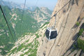 Cableway the of weat peak in huashan mountain in shaanxi china Royalty Free Stock Photography