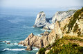 Cabo da roca cape is a cape which forms the westernmost extent of mainland portugal and continental europe the cape is in the Stock Photography
