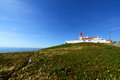 Cabo da roca lighthouse sintra portugal is the most westerly point of the europe mainland Royalty Free Stock Photo