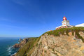 Cabo da roca lighthouse sintra portugal is the most westerly point of the europe mainland Royalty Free Stock Photography