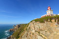 Cabo da roca lighthouse sintra portugal is the most westerly point of the europe mainland Royalty Free Stock Photos