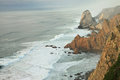 Cabo da roca ocean beside portugal Royalty Free Stock Photo