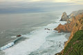 Cabo da roca ocean beside portugal Stock Images