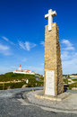 Cabo da roca portugal most western point of europe mainland is located near lisbon shore of atlantic ocean Stock Image
