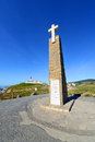 Cabo da roca sintra portugal monument and lighthouse is the most westerly point of the europe mainland Stock Images